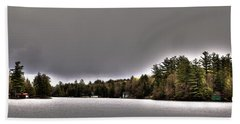 Pond Panorama Hand Towel by David Patterson