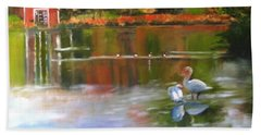 Pond Reflections Bath Towel