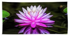 Pond Water Lily Bath Towel