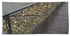 Pont Des Artes Hand Towel by Allen Sheffield