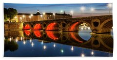 Bath Towel featuring the photograph Pont Neuf In Toulouse by Elena Elisseeva