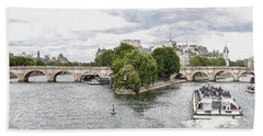 Pont Neuf Panorama Bath Towel