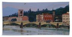 Ponte Vecchio Landscape Bath Towel