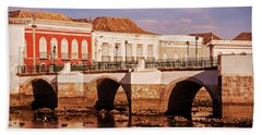 Ponte Romana And River Gilao- Tavira Hand Towel
