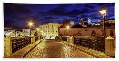 Ponte Romana At Blue Hour / Tavira, Portugal Bath Towel