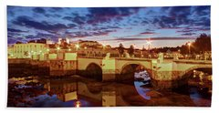 Ponte Romana At Dusk - Tavira, Portugal Bath Towel
