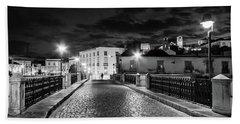 Ponte Romana At Night - Tavira, Portugal Hand Towel