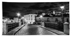 Ponte Romana At Night - Tavira, Portugal Bath Towel