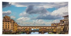 Ponte Vecchio Clouds Hand Towel