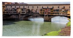 Hand Towel featuring the photograph Ponte Vecchio Florence Italy II by Joan Carroll