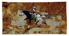 Pony Express Rider Bath Towel by Larry Campbell