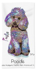 Poodle Pop Art Bath Towel