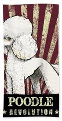 Poodle Revolution Hand Towel