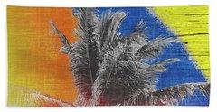 Pop Art Coconut Tree Retro Tropical Vintage Palm  Hand Towel