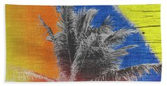 Pop Art Coconut Tree Retro Tropical Vintage Palm  Bath Towel
