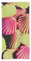 Pop Art From Fluorescent Beach Hand Towel