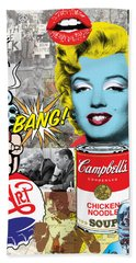 Pop Art Montage Hand Towel