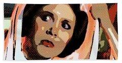 Pop Art Princess Leia Organa Hand Towel
