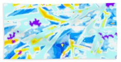 Bath Towel featuring the digital art Pop Art Swirls And Shapes by Joy McKenzie