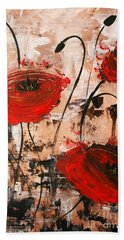 Pop Goes The Poppies Hand Towel