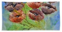 Pop Wild Floral Painting By Lisa Kaiser Bath Towel
