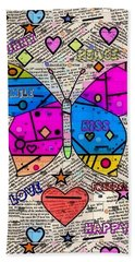 Popart New Paper By Nico Bielow Bath Towel