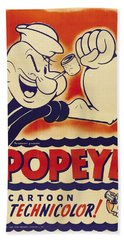 Popeye Technicolor Hand Towel