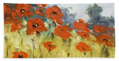 Poppies 3 Bath Towel