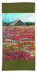 Poppies At Cedar Point Bath Towel by Jim Phillips