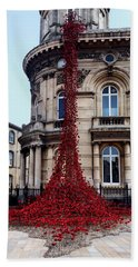 Poppies - City Of Culture 2017, Hull Bath Towel