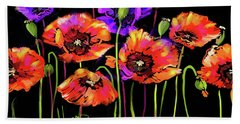 Poppies Bath Towel
