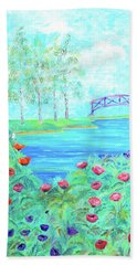 Poppies Bath Towel by Elizabeth Lock