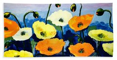 Poppies In Colour Bath Towel
