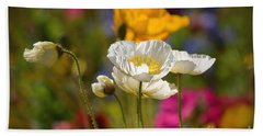Poppies In The Spring Hand Towel by Deb Halloran