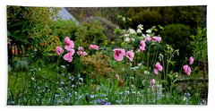 Poppies Of The Great Dixter Bath Towel by Tanya Searcy