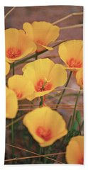 Poppies On Mount Lemmon Bath Towel