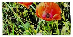 Poppy Beauties Hand Towel