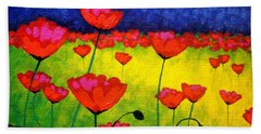Poppy Cluster Hand Towel
