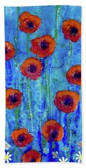 Poppy Dance Bath Towel