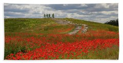 Poppy Field 2 Hand Towel