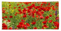 Poppy Field Hand Towel
