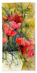 Poppy Impression Hand Towel