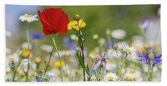 Poppy In Meadow  Hand Towel