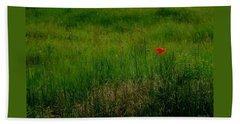 Bath Towel featuring the photograph Poppy In The Field by Marija Djedovic