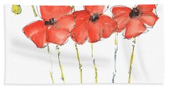 Red Poppy Play Bath Towel