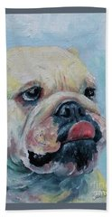Pork Chop Hand Towel by William Reed