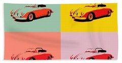 Porsche 356 Pop Art Panels Bath Towel