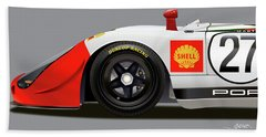 Porsche 908 Detail Illustration Bath Towel