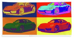 Porsche 911 2017, Colorful Warhol Style Bath Towel