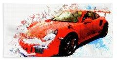 Porsche 911 Gts Hand Towel